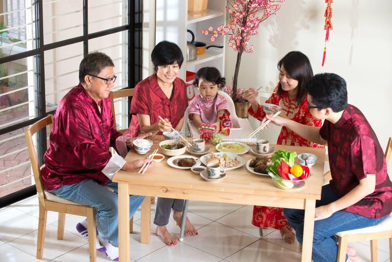 Κινεζικό νέο γεύμα συγκέντρωσης έτους στοκ φωτογραφίες με δικαίωμα ελεύθερης χρήσης