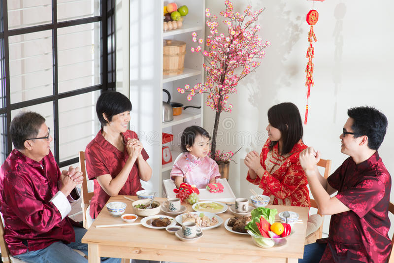 Κινεζικό νέο γεύμα συγκέντρωσης έτους στοκ εικόνες με δικαίωμα ελεύθερης χρήσης