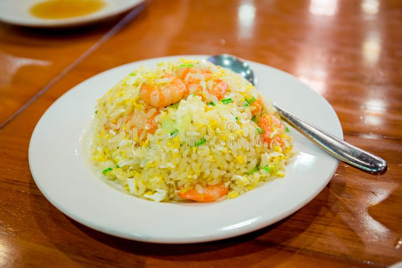 Κινεζικό ορισμένο τηγανισμένο ρύζι στοκ φωτογραφίες