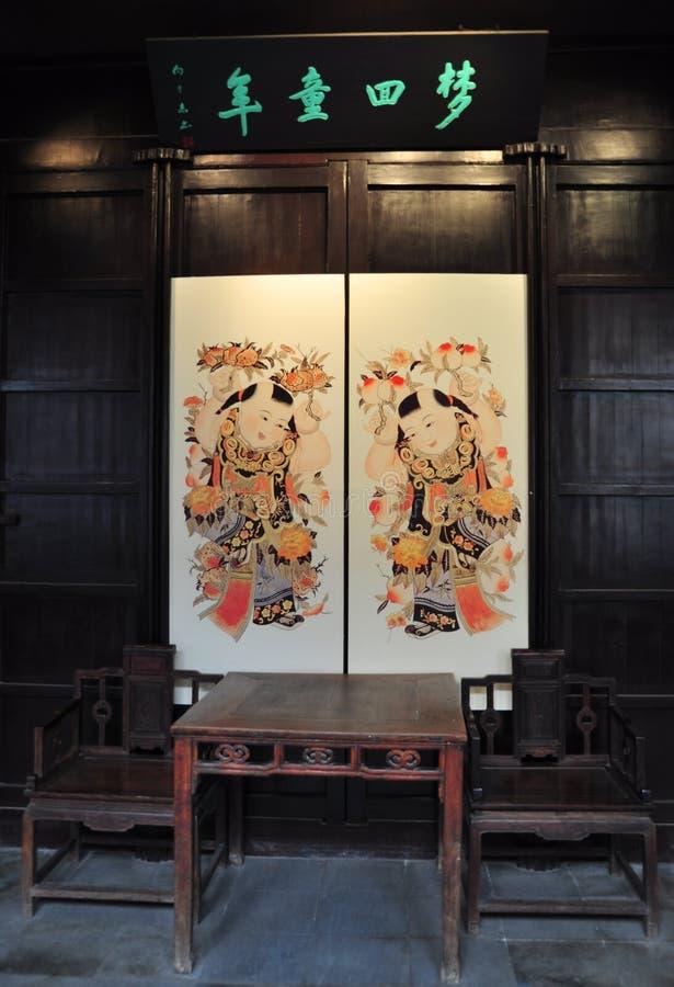 κινεζικό παλαιό δωμάτιο στοκ φωτογραφία με δικαίωμα ελεύθερης χρήσης