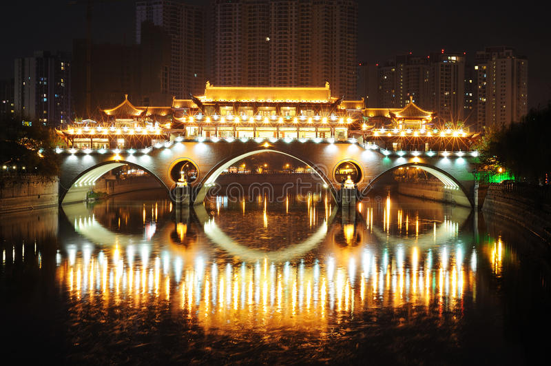 Κινεζικό παλαιό κτήριο σε Chengdu στοκ φωτογραφία