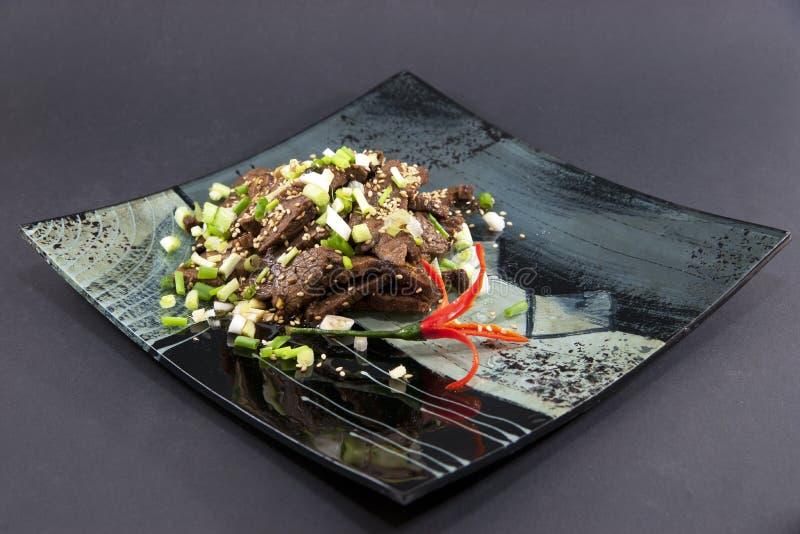 κινεζικό πιάτο βόειου κρέ&al στοκ εικόνες