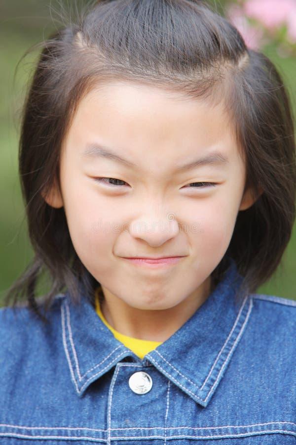 κινεζικό πρόσωπο παιδιών στοκ εικόνες