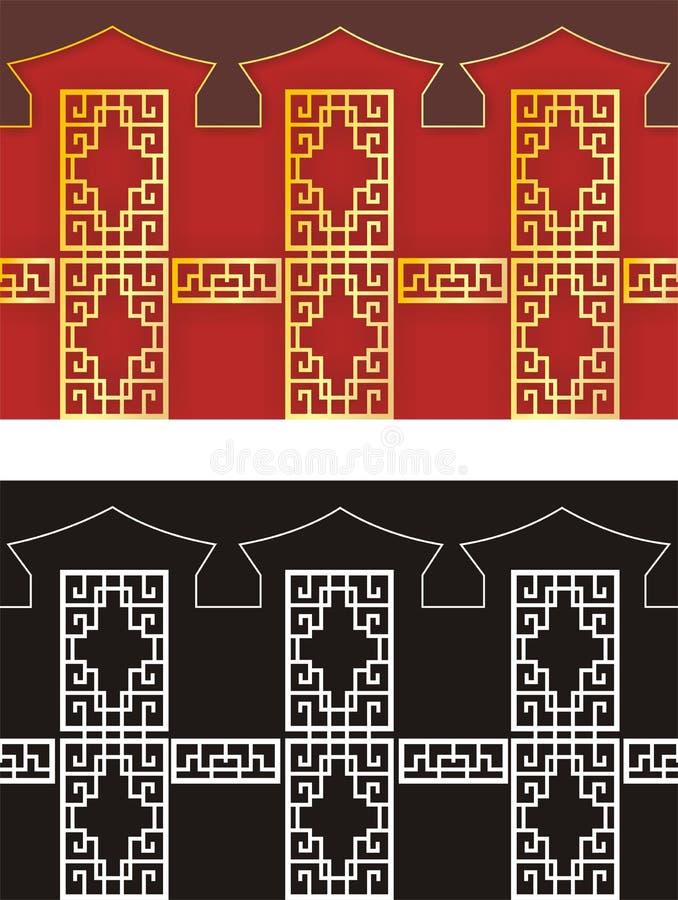 κινεζικό πρότυπο ελεύθερη απεικόνιση δικαιώματος