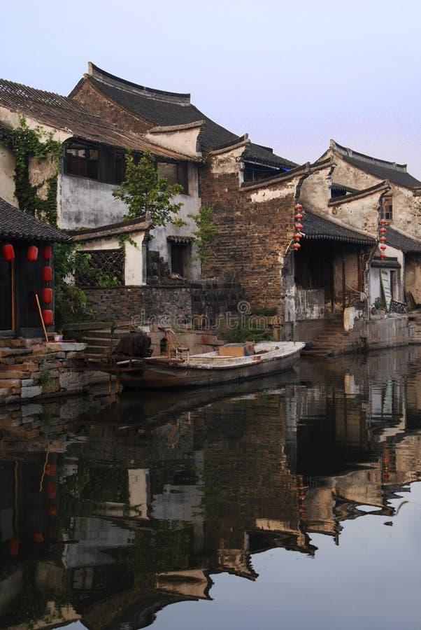 κινεζικό πόλης ύδωρ xitang στοκ εικόνες