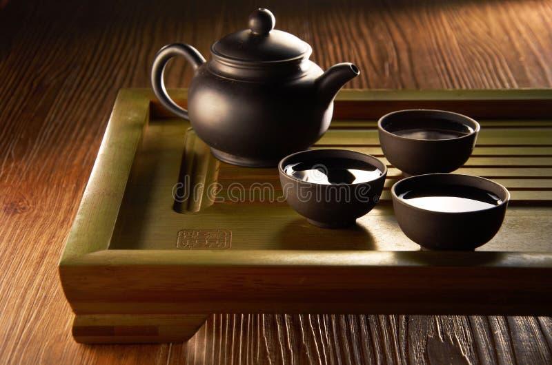 Κινεζικό σύνολο τσαγιού στοκ φωτογραφίες