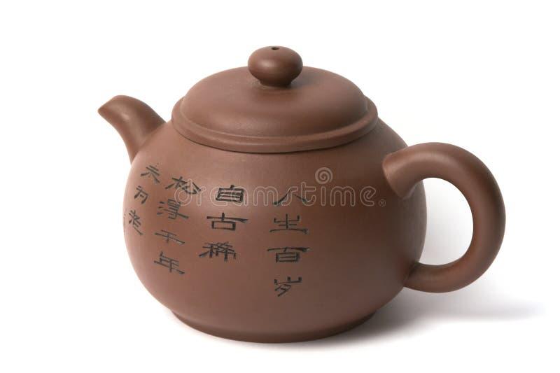 κινεζικό τσάι δοχείων στοκ εικόνα