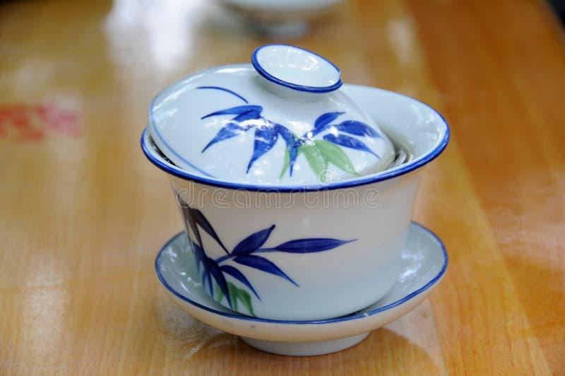 κινεζικό τσάι φλυτζανιών π&al στοκ φωτογραφία