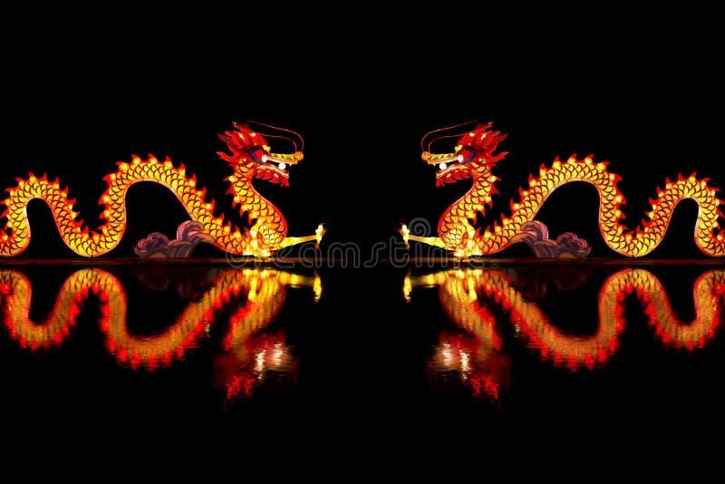 Κινεζικό φανάρι δράκων στοκ εικόνα