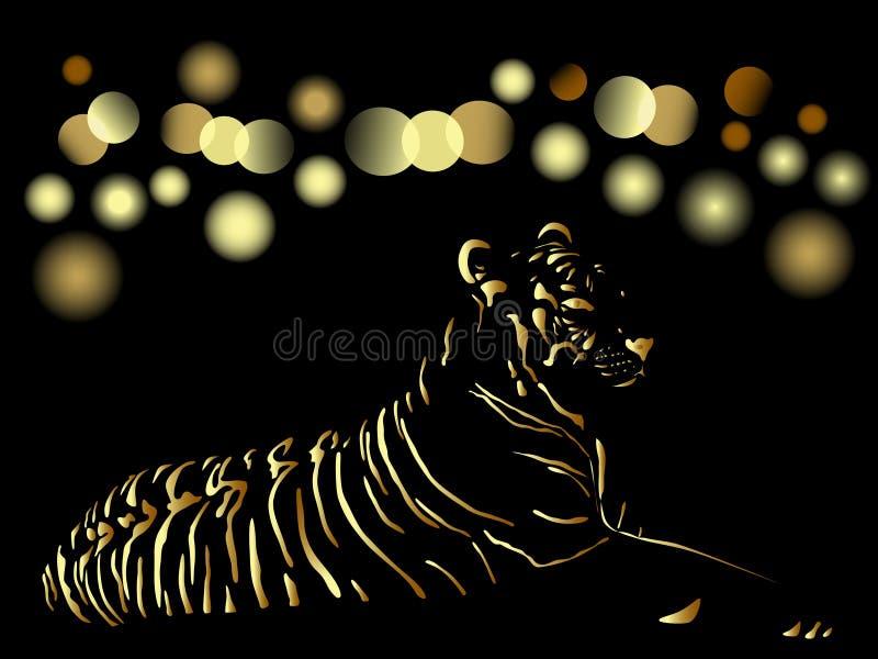 κινεζικό χρυσό νέο έτος κα&r απεικόνιση αποθεμάτων