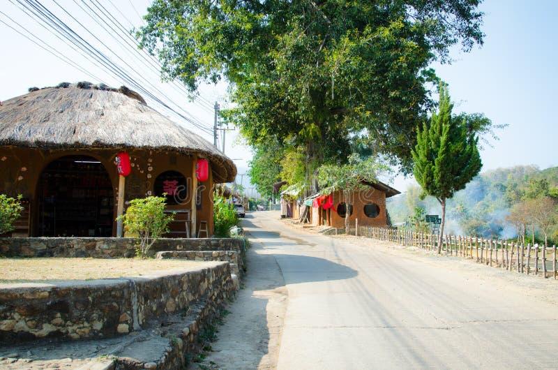 Κινεζικό χωριό Santichon, Ταϊλάνδη στοκ φωτογραφίες με δικαίωμα ελεύθερης χρήσης