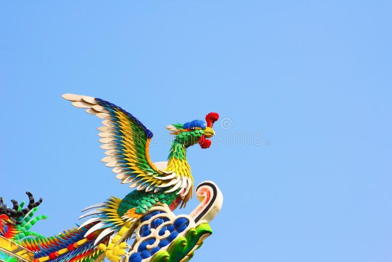 Κινεζικό ύφος αγαλμάτων του Phoenix στοκ φωτογραφία με δικαίωμα ελεύθερης χρήσης