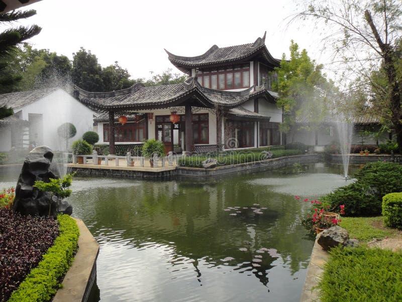 κινεζικό ύφος κήπων στοκ εικόνες