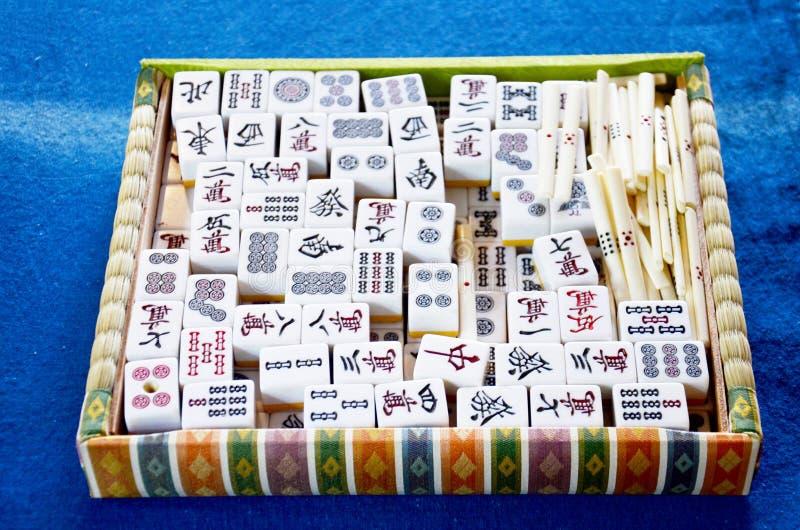 Κινεζικό ύφος παιχνιδιών καρτών παιχνιδιού αποκαλούμενο Mahjong στοκ φωτογραφία με δικαίωμα ελεύθερης χρήσης
