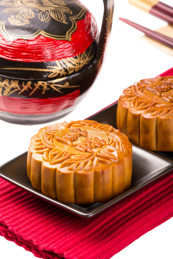 Κινεζικό Mooncake στοκ εικόνα