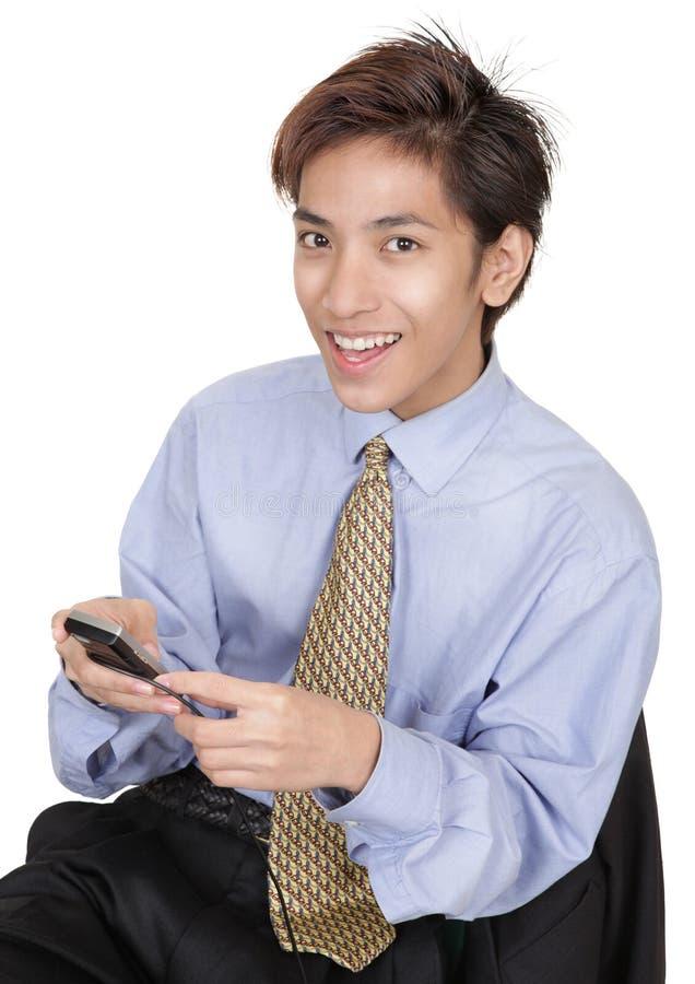 κινεζικό pda επιχειρηματιών στοκ φωτογραφία