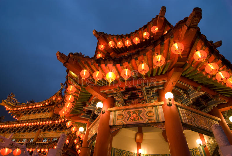Κινεζικό thean hou ναών gong, Κουάλα Λουμπούρ, Μαλαισία στοκ φωτογραφία με δικαίωμα ελεύθερης χρήσης