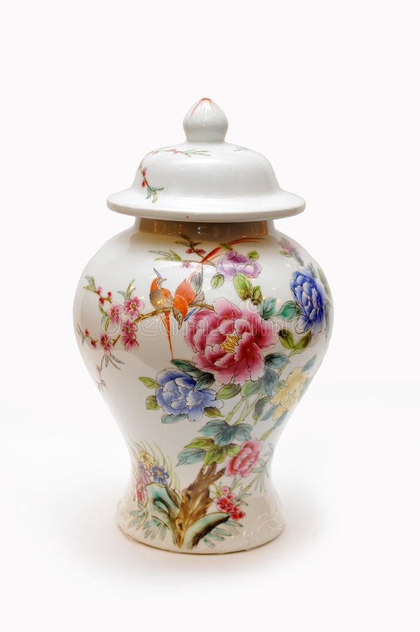 κινεζικό vase πορσελάνης στοκ εικόνα με δικαίωμα ελεύθερης χρήσης