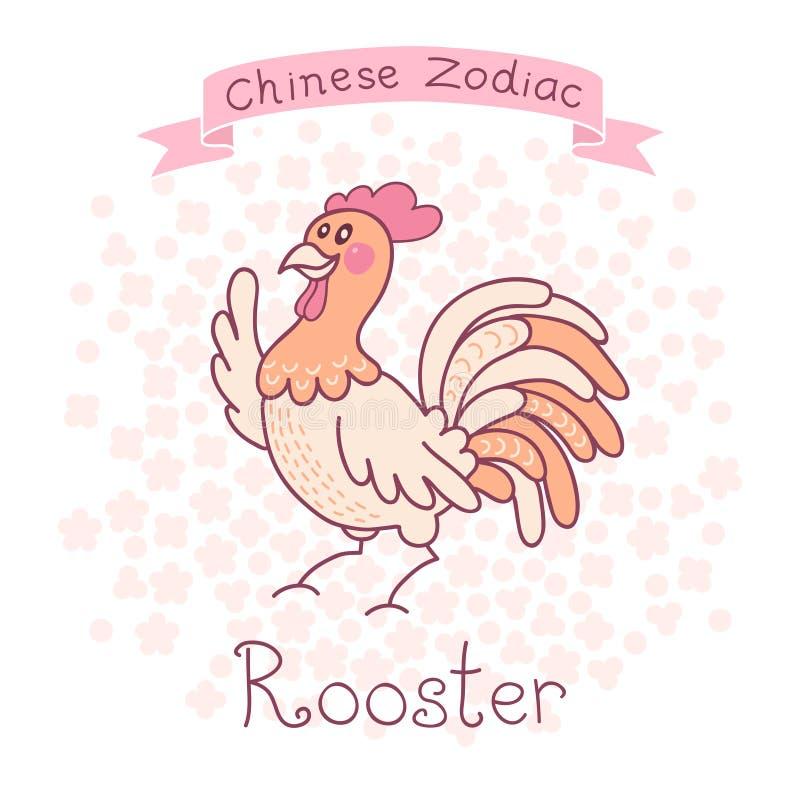 Κινεζικό Zodiac - κόκκορας διανυσματική απεικόνιση