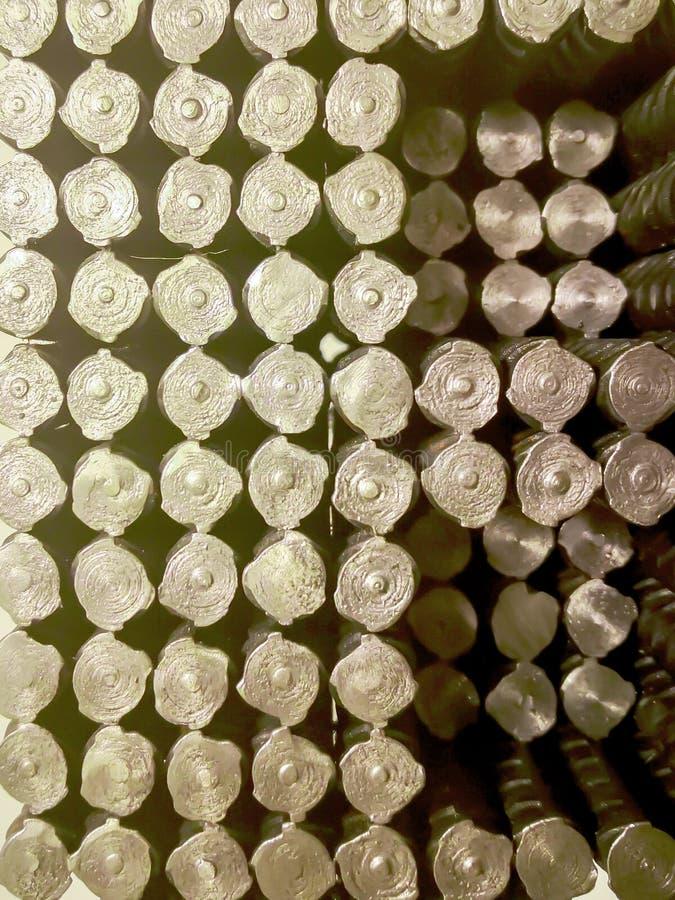 Κινηματογράφηση σε πρώτο πλάνο ενός σωρού της οικοδόμησης armature διανυσματική απεικόνιση