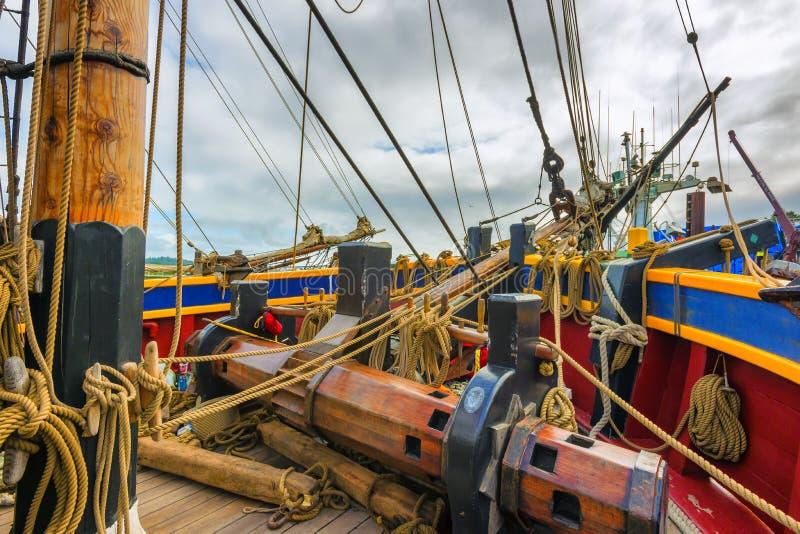 Κινηματογράφηση σε πρώτο πλάνο ενός τμήματος του σκάφους κυρία Washington στοκ φωτογραφίες