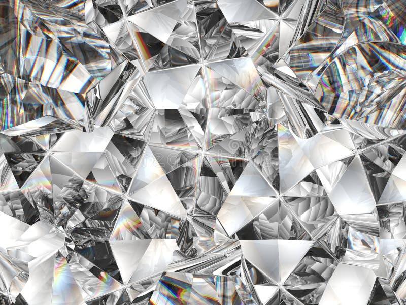 Κινηματογράφηση σε πρώτο πλάνο και καλειδοσκόπιο σύστασης διαμαντιών στοκ φωτογραφία με δικαίωμα ελεύθερης χρήσης