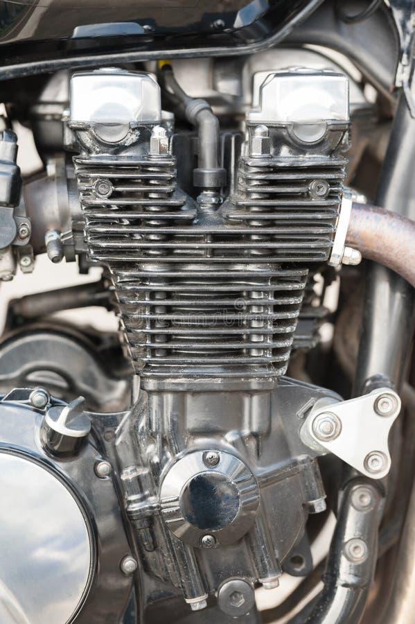 Κινηματογράφηση σε πρώτο πλάνο μηχανών μοτοσικλετών στοκ φωτογραφία με δικαίωμα ελεύθερης χρήσης