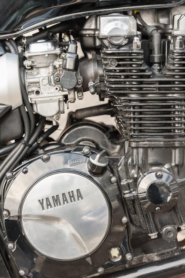 Κινηματογράφηση σε πρώτο πλάνο μηχανών μοτοσικλετών Yamaha στοκ φωτογραφία με δικαίωμα ελεύθερης χρήσης