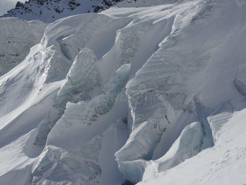 Κινηματογράφηση σε πρώτο πλάνο παγετώνων στοκ εικόνα