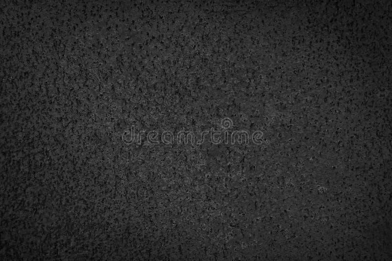 Κινηματογράφηση σε πρώτο πλάνο της μαύρης σύστασης υποβάθρου σκουριάς μετάλλων grunge Οξυδωμένη, παλαιά, εκλεκτής ποιότητας, αναδ στοκ εικόνα