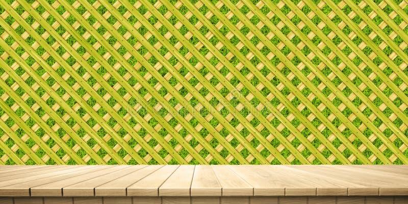 Κινηματογράφηση σε πρώτο πλάνο του ζωηρόχρωμου ξύλινου υποβάθρου πλατφορμών και φρακτών/κιγκλιδωμάτων, μπροστινή άποψη απεικόνιση αποθεμάτων