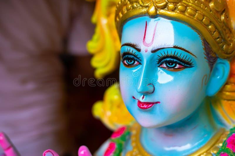 Κινηματογράφηση σε πρώτο πλάνο του ινδού Θεού Krishna στοκ εικόνα