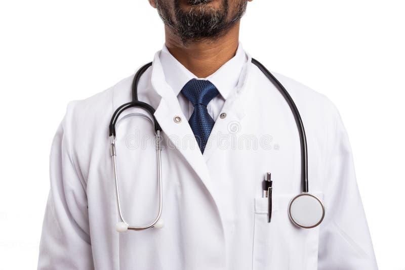 Κινηματογράφηση σε πρώτο πλάνο του παλτού γιατρών στοκ εικόνα