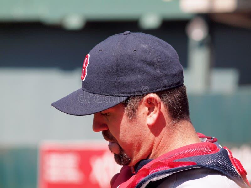 Κινηματογράφηση σε πρώτο πλάνο Catcher Jason Varitek του Red Sox στοκ φωτογραφίες με δικαίωμα ελεύθερης χρήσης