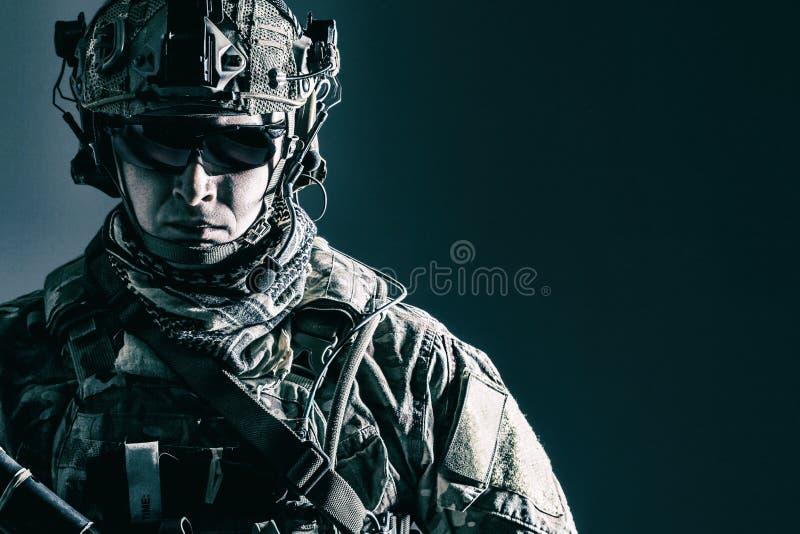 Κινηματογράφηση σε πρώτο πλάνο δασοφυλάκων αμερικάνικου στρατού στοκ εικόνες με δικαίωμα ελεύθερης χρήσης