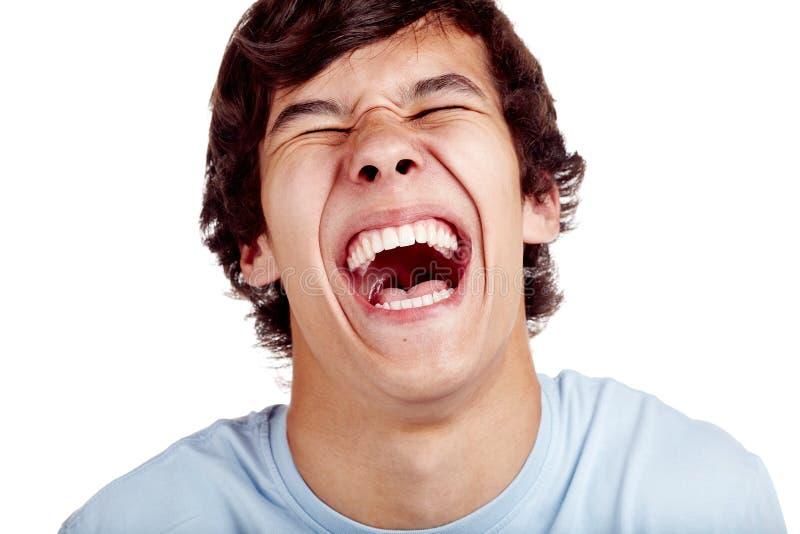Κινηματογράφηση σε πρώτο πλάνο γέλιου στοκ φωτογραφία με δικαίωμα ελεύθερης χρήσης