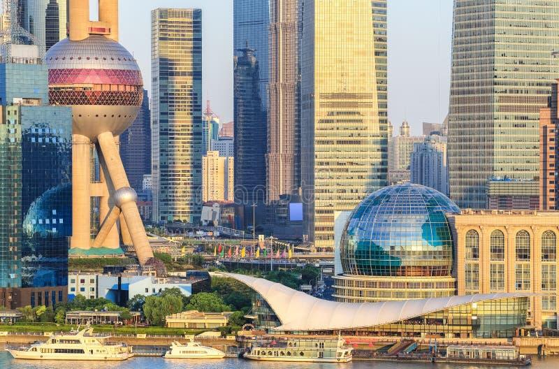 Κινηματογράφηση σε πρώτο πλάνο οικονομικών κέντρων lujiazui της Σαγκάη στοκ φωτογραφία με δικαίωμα ελεύθερης χρήσης