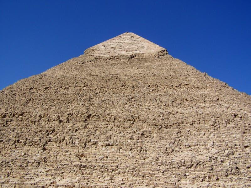 Κινηματογράφηση σε πρώτο πλάνο της πέτρινης μορφής και του ασβεστόλιθου ΚΑΠ πυραμίδων Khafre στοκ φωτογραφίες με δικαίωμα ελεύθερης χρήσης
