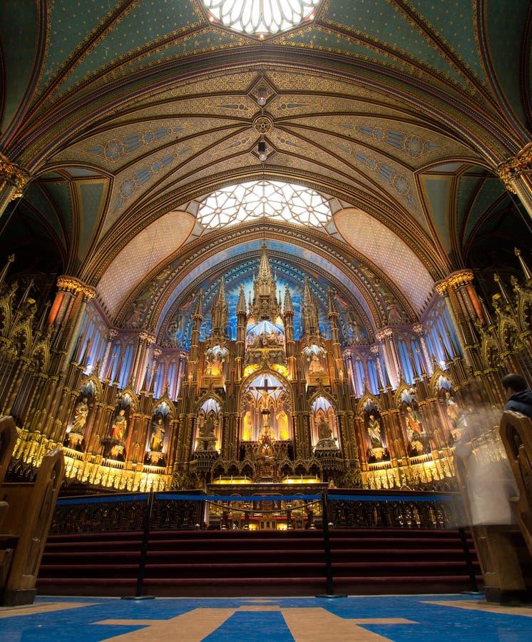 Κλείστε επάνω την άποψη Notre-Dame Basillica στοκ εικόνα με δικαίωμα ελεύθερης χρήσης