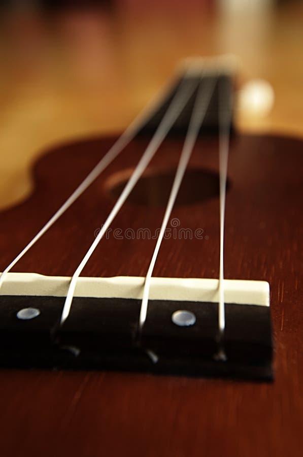 Κινηματογράφηση σε πρώτο πλάνο του σώματος ukulele στοκ εικόνες με δικαίωμα ελεύθερης χρήσης