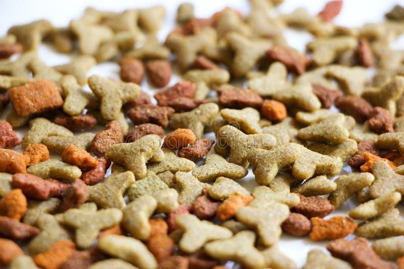 Κινηματογράφηση σε πρώτο πλάνο των τροφίμων της Pet στοκ φωτογραφία