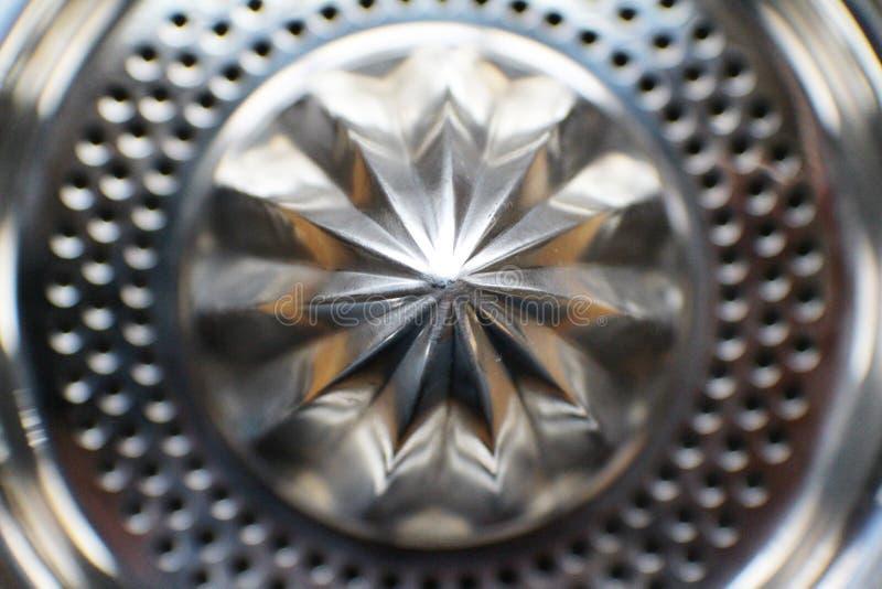 Κινηματογράφηση σε πρώτο πλάνο Juicer μετάλλων στοκ εικόνες
