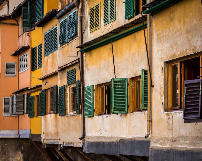 Κινηματογράφηση σε πρώτο πλάνο Ponte Vecchio στοκ εικόνα