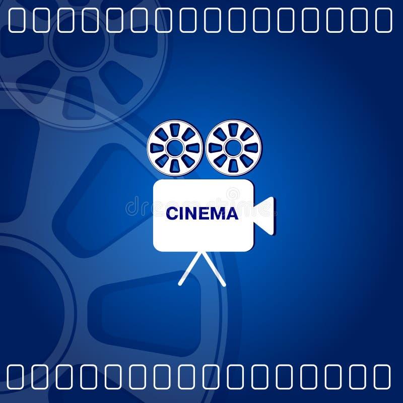 κινηματογράφος ανασκόπησης απεικόνιση αποθεμάτων