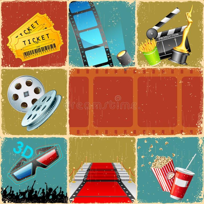 κινηματογράφος κολάζ διανυσματική απεικόνιση