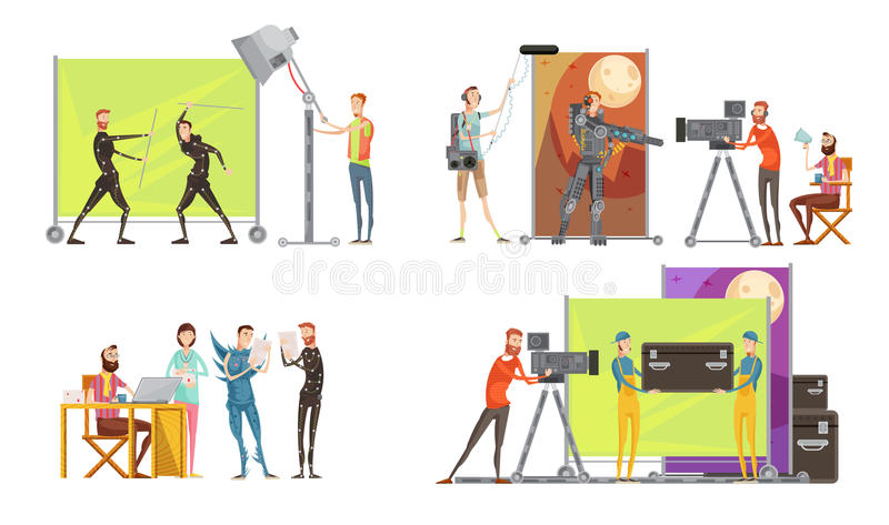 Κινηματογράφος που κάνει την έννοια απεικόνιση αποθεμάτων