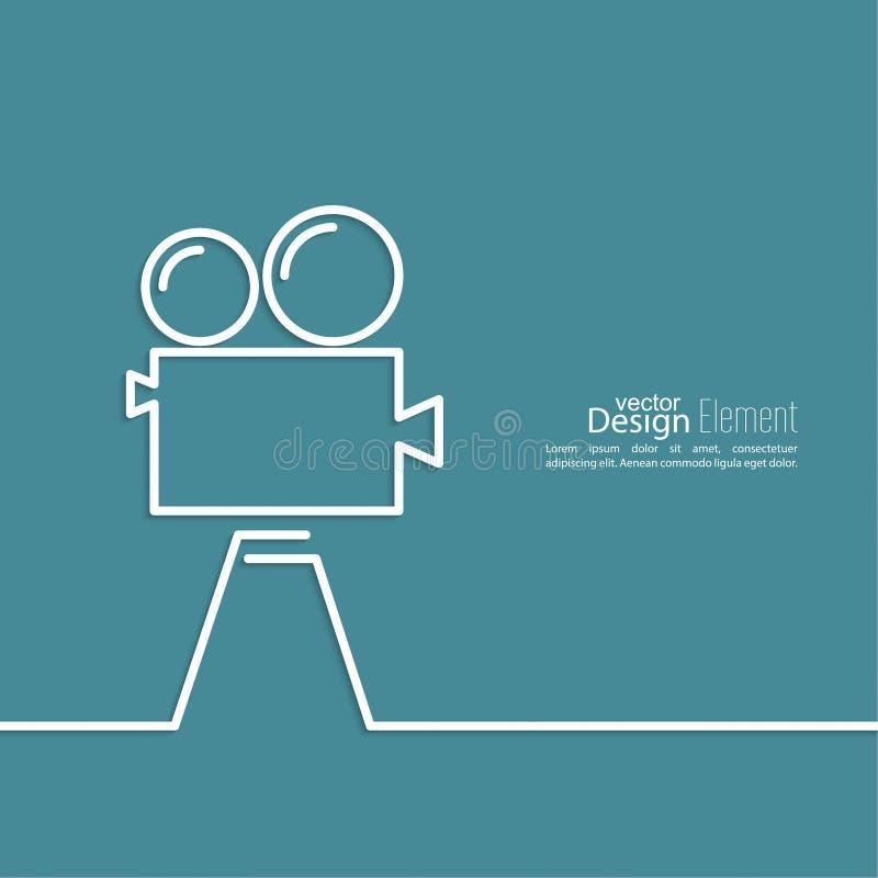 κινηματογράφος φωτογρα&p απεικόνιση αποθεμάτων