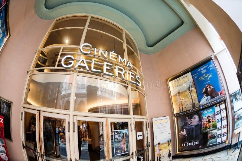 Κινηματογράφος Galeries σε Galeries Royales Άγιος-Hubert στοκ φωτογραφίες με δικαίωμα ελεύθερης χρήσης