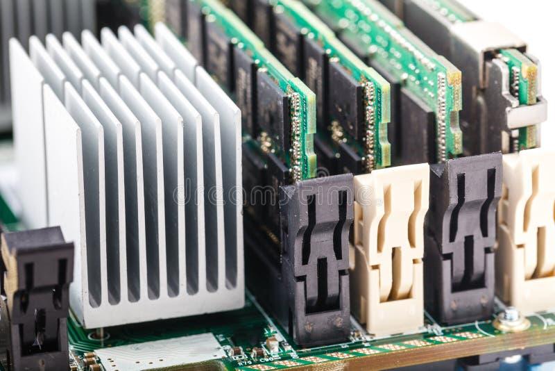 Κινηματογραφήσεων σε πρώτο πλάνο πράσινη της ΟΔΓ μνήμη τυχαίας προσπέλασης ποσοστού στοιχείων RAM διπλή στοκ φωτογραφίες