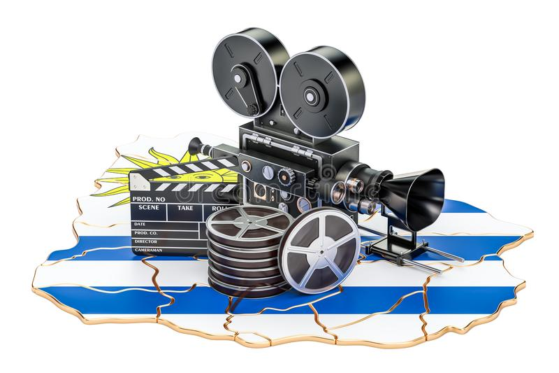 Κινηματογραφία Ουρουγουανών, έννοια βιομηχανίας κινηματογράφου τρισδιάστατη απόδοση ελεύθερη απεικόνιση δικαιώματος